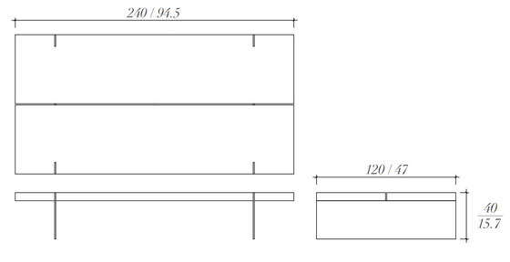 Duplex coffee table di BALTUS | Tavolini bassi