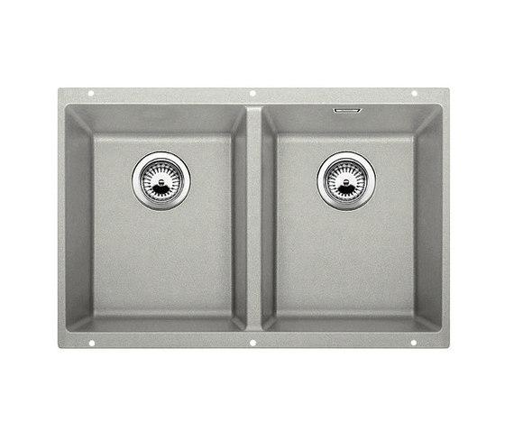 BLANCO SUBLINE 350/350-U | SILGRANIT Pearl Grey by Blanco | Kitchen sinks