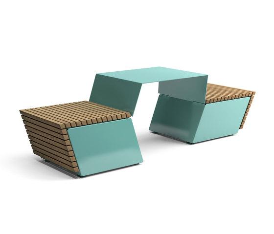 Code combined table and bench de Vestre | Mesas y bancos