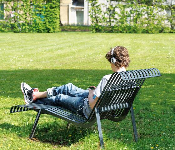 Chaise longue  Miramar de AREA | Sièges d'extérieur