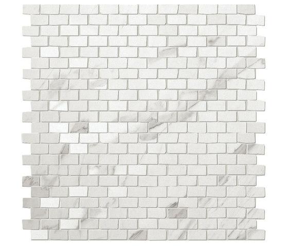 Roma Brick Statuario Mosaico de Fap Ceramiche | Mosaicos de cerámica