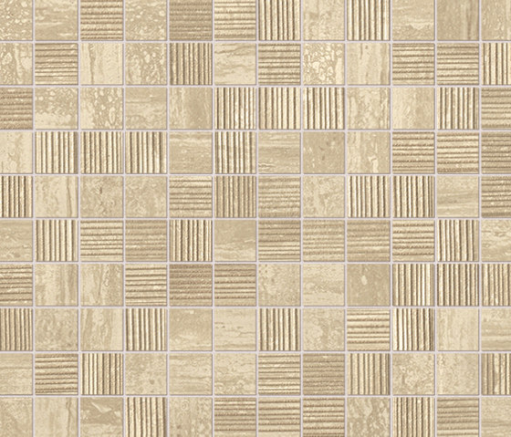 Roma Travertino Mosaico by Fap Ceramiche | Ceramic mosaics