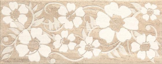 Misty Beige Scuro Flowers Inserto von ASCOT CERAMICHE   Keramik Fliesen