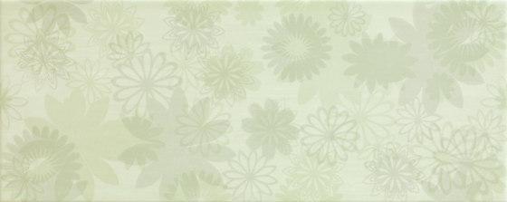Pennellato Verde Inserto Floreale de ASCOT CERAMICHE | Carrelage céramique