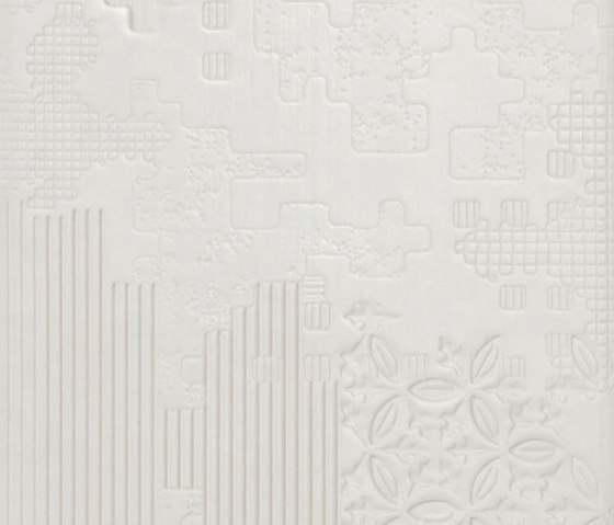 Bas-Relief patchwork bianco di Ceramiche Mutina | Piastrelle ceramica