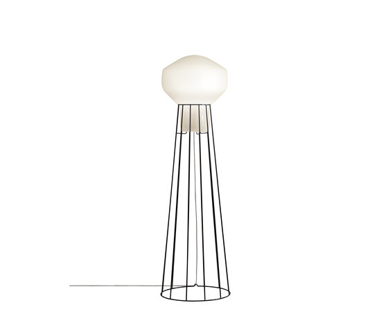 Aérostat F27 C01 24 by Fabbian   Free-standing lights