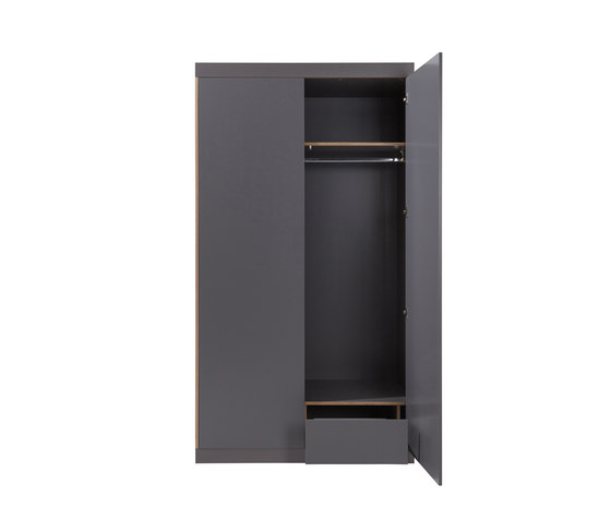 Flai Wardrobe CPL anthracite by Müller small living | Cabinets