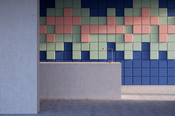 BAUX Acoustic 3D Pixel - Reception by BAUX | Wood panels