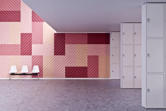 BAUX Acoustic Panels - Campus Lockerroom by BAUX | Wood panels