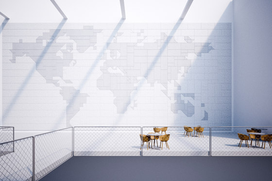 BAUX Acoustic Tiles - Campus Worldmap by BAUX | Wood panels