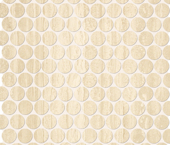 Roma Round Travertino Mosaico by Fap Ceramiche | Ceramic mosaics