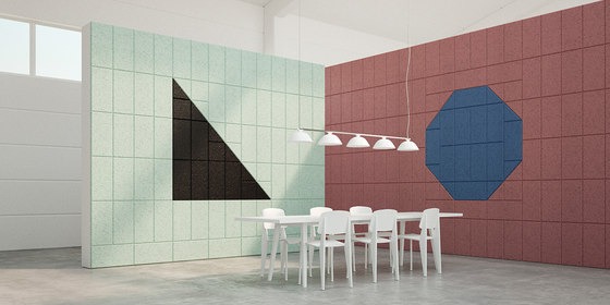 BAUX Acoustic Tiles - Meeting Room by BAUX   Wood panels