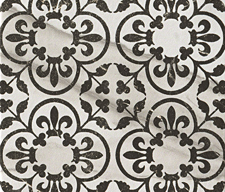 Roma Decò 20 Statuario Grafite di Fap Ceramiche | Piastrelle ceramica