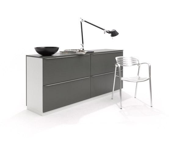 Modular16 dresser with two drawers by Müller Möbelwerkstätten | Sideboards
