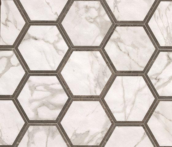 Roma Decò Esagono Calacatta Imperiale by Fap Ceramiche | Ceramic tiles