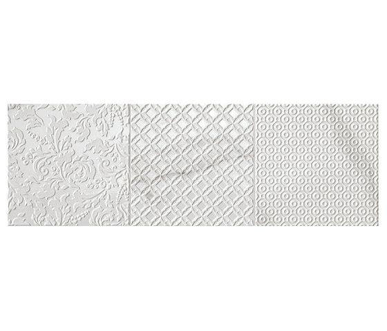 Roma Tracce Statuario Inserto Mix 3 de Fap Ceramiche | Carrelage céramique