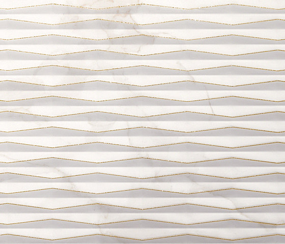 Roma Fold Glitter Calacatta Inserto di Fap Ceramiche | Piastrelle ceramica
