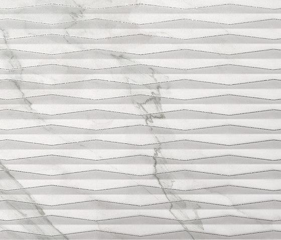 Roma Fold Glitter Statuario Inserto di Fap Ceramiche   Piastrelle ceramica