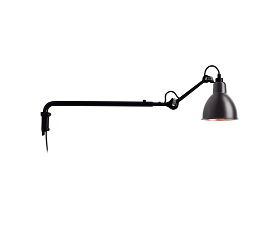 LAMPE GRAS - N°203 black/copper by DCW éditions | Wall lights