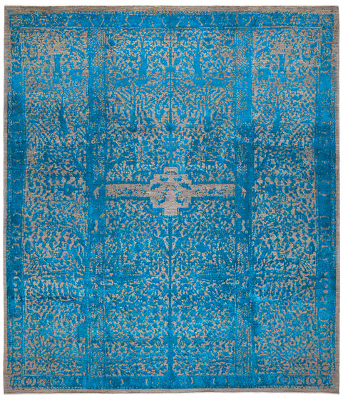 Designer Isfahan Classical Garden in Blue by Zollanvari | Rugs / Designer rugs
