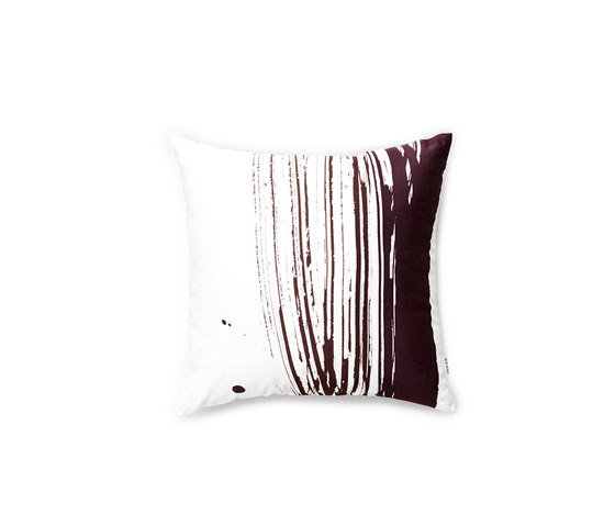 Wave & Brush Cushion Dark Brown by NEW WORKS   Cushions