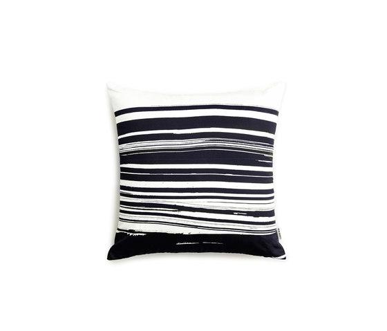 Wave & Brush Cushion Black by NEW WORKS | Cushions