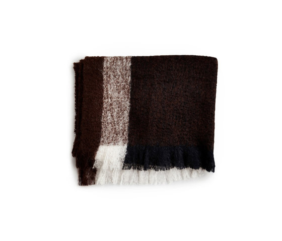 Check Throw Dark Brown Mohair Wool by NEW WORKS | Plaids