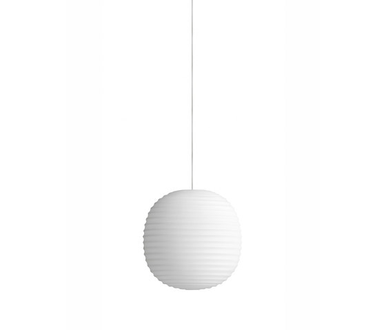 Lantern Pendant Frosted White Opal Glass | Small by NEW WORKS | Suspended lights