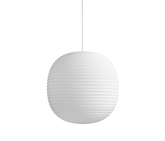 Lantern Pendant Frosted White Opal Glass | Large by NEW WORKS | Suspended lights