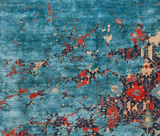 Erased Heritage | Bidjar Leyton Aerial by Jan Kath | Rugs