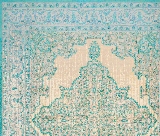 Erased Heritage | Tabriz Fashion Double Vendetta by Jan Kath | Rugs