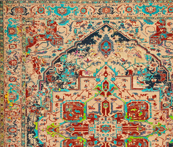 Erased Heritage | Serapi Westminster Ice by Jan Kath | Rugs