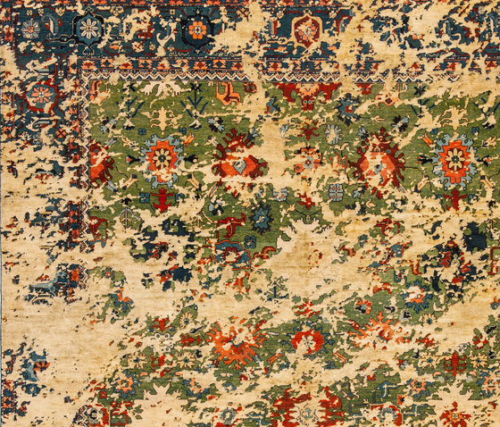 Erased Heritage | Bidjar Kingscross Double Sky by Jan Kath | Rugs
