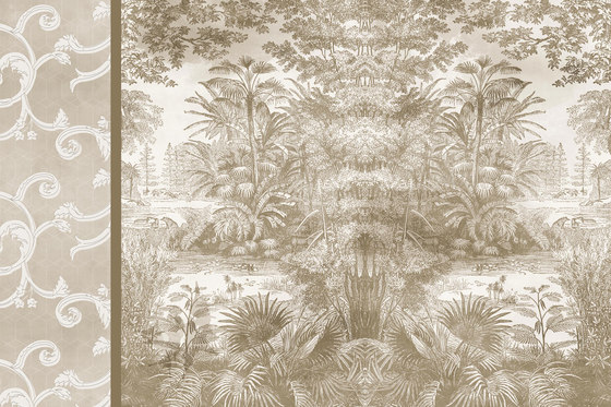 Classic But Mint by GLAMORA | Bespoke wall coverings