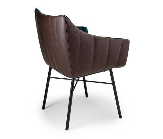 Rubie | Armchair High with steel frame 4-legs di FREIFRAU MANUFAKTUR | Sedie