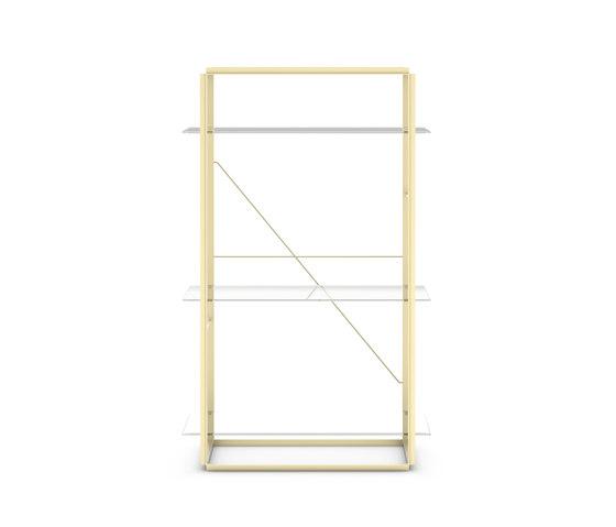 Florence Shelf Raw Gold | Medium by NEW WORKS | Shelving
