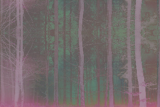 Pixelation Forest by GLAMORA   Bespoke wall coverings