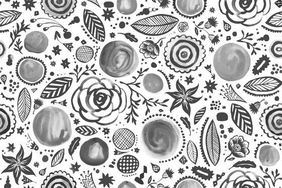 Symbiosis Walldoodledrops by GLAMORA   Bespoke wall coverings