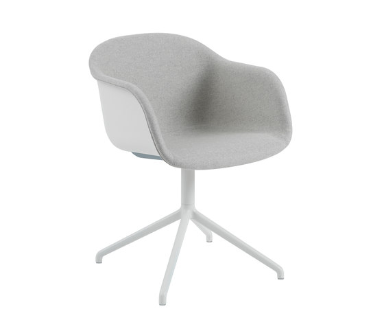 Fiber Armchair | swivel base front upholstered by Muuto | Chairs