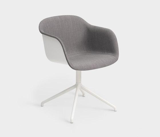 Fiber Armchair | swivel base front upholstered de Muuto | Sillas de visita