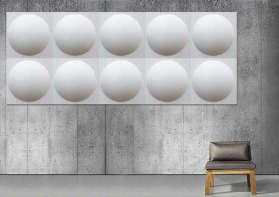 ECOround wall by Slalom | Sound absorbing wall systems