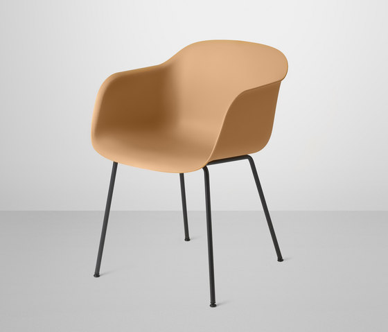 Fiber Armchair   tube base by Muuto   Visitors chairs / Side chairs