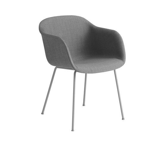 Fiber Armchair | tube base upholstered by Muuto | Chairs