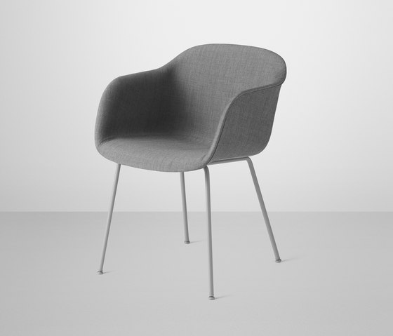 Fiber Armchair | tube base upholstered by Muuto | Visitors chairs / Side chairs