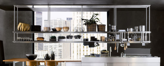 Extraction Systems | LED TOUCH double shelf in stainless steel by Arclinea | Kitchen hoods