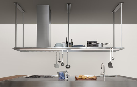 Extraction Systems | LED TOUCH single shelf in stainless steel by Arclinea | Kitchen hoods