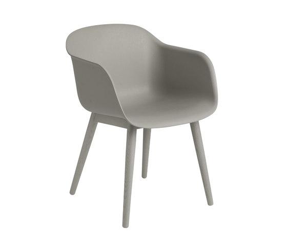Fiber Armchair | wood base von Muuto | Besucherstühle