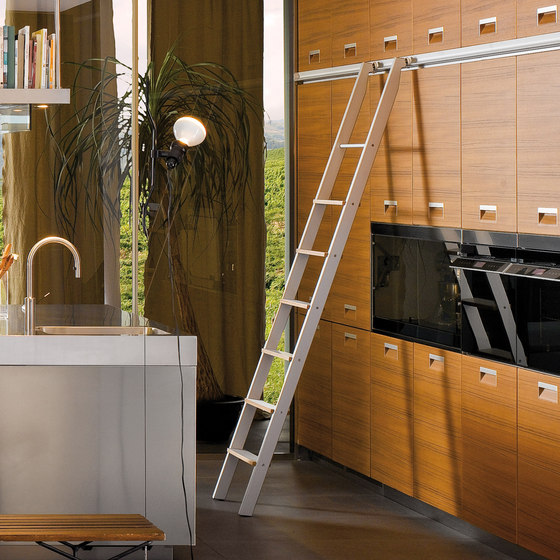 Step ladder by Arclinea | Library ladders