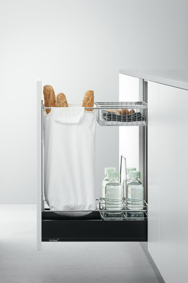 Base Units with Accessories   Pull-out base unit for bread by Arclinea   Kitchen organization
