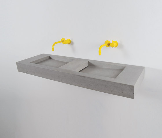Flor Double by Kast Concrete Basins | Wash basins